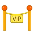 Decorative poles with tape for VIP icon vector image