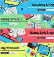 Design concepts for mobile marketing and money vector image