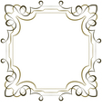 elegant square multilayer frame on white vector image vector image