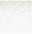 falling confetti pieces vector image