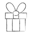 figure present gift box with ribbon bow decoration vector image