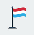 flag of luxembourgflag stand vector image vector image
