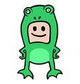 frog boy vector image vector image