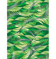 Green tropical palm and plant leaf repeat pattern vector image vector image