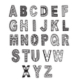 hand drawn font in doodle style letters set vector image vector image