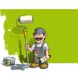 Handyman Wall Painter Gray Uniform vector image vector image