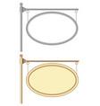hanging corner oval nameplates vector image