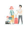 happy family travelling father mother and kid vector image vector image