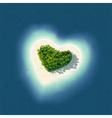 Heart Shaped Tropical Island vector image vector image