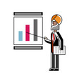 indian speaker doing business presentation vector image vector image