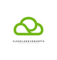 luxury cloud logo design concept cloud logo vector image