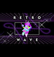new retro wave space yummy vaporwave vector image vector image