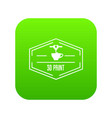 plastic 3d printing icon green vector image vector image
