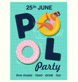 pool party invitation top view of vector image vector image
