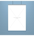 poster template of a blank paper sheet in vector image vector image