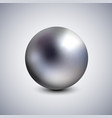 realistic dark pearl spherical 3d orb with vector image