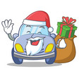 santa cute car character cartoon vector image vector image