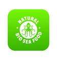 sea food icon green vector image
