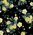 Seamless floral pattern with yellow and white vector image vector image