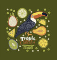 seamless pattern with tropical bright vector image vector image