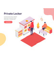 secure space and private locker concept vector image vector image