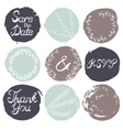 set 9 decorative wedding elements vector image