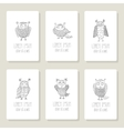 set cards invitation with hand drawn vector image vector image