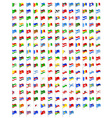 set icons flags of the world countries vector image