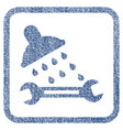 shower plumbing fabric textured icon vector image