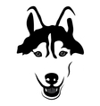 Siberian Husky Portrait Isolated vector image