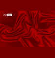 silk red background satin fabric abstract vector image