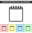 simple outline transparent notebook icon vector image