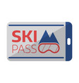 ski pass card template icon vector image vector image