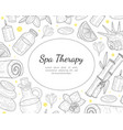 spa therapy banner template organic natural vector image vector image