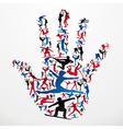 Sports silhouettes hand vector image vector image