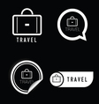 travel icon black and white vector image vector image