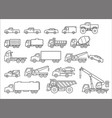 truck icons set vector image vector image
