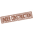 under construction stamp vector image vector image