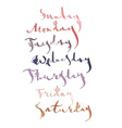 Week calligraphy vector image