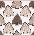 winter rustic fir tree lino cut texture seamless vector image vector image