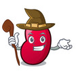 witch jelly bean mascot cartoon vector image