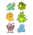 microbes collection v2 vector image