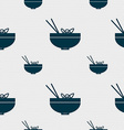 Spaghetti icon sign Seamless pattern with vector image
