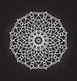 abstract mandala on chalkboard background vector image