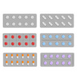 set of pills in blister vector image