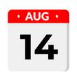 14 august calendar icon