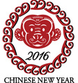 2016 New Year Of The Monkey vector image vector image