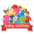 baclothes background with clothing items vector image