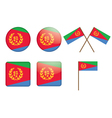 badges with flag of Eritrea vector image
