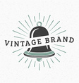 Bell Vintage Retro Design Elements for Logotype vector image vector image